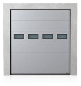 Industriesektionaltor mit Fenstereinsätzen A-1